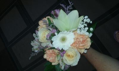 Bouquet With Gerbera & Roses