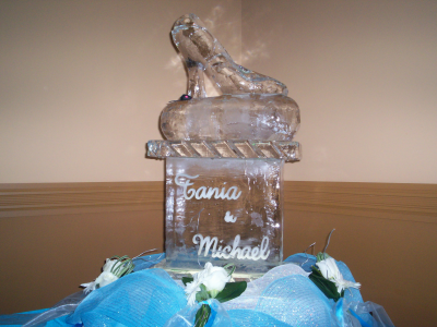 High Heel Ice Sculpture