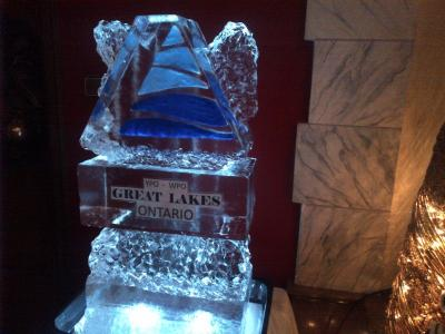 Great Lakes Ontario Ice Sculpture
