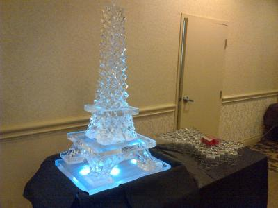 Eiffel Tower Ice Sculpture