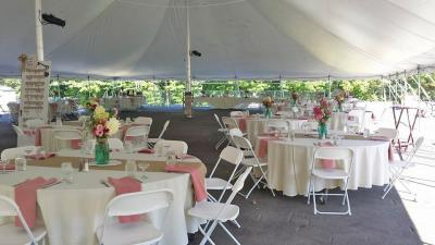 Outdoor Reception in a Tent