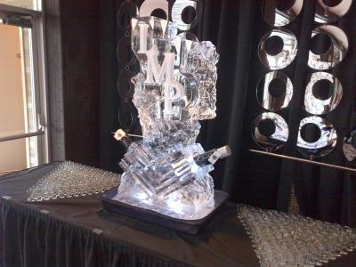 Monogramed Ice Sculpture