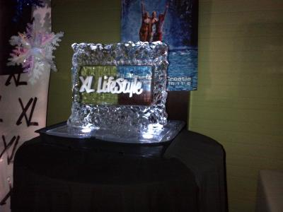 Logo Inside Ice Sculpture