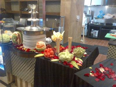 Food Display on Icebar for Events