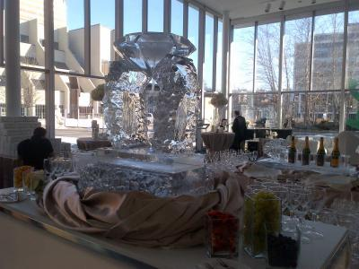 Ice Sculpture with Diamond