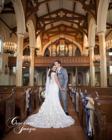 Bride & Groom in St. Vincent Church