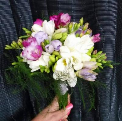 White and Purple Flower Arrangement