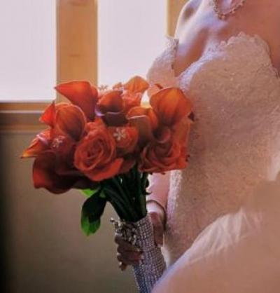 Rust Calla-Lily  Bridal Bouquet