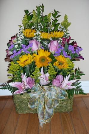 Tall Basket Centerpiece