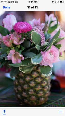 Hawaiian Bridal Shower Table Scape Decor