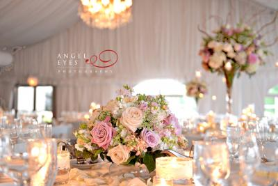 Alternating Height Centerpieces