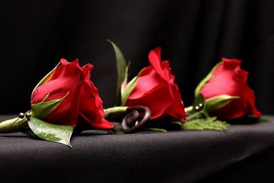 Red Rose Boutonnieres