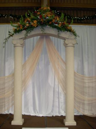 White Wedding Arch