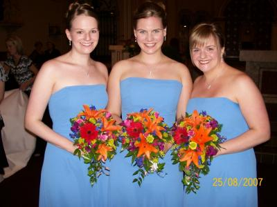 Bright Beautiful Bridemaid Bouquets