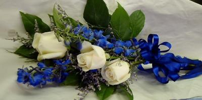 Simply Roses with Delphinium