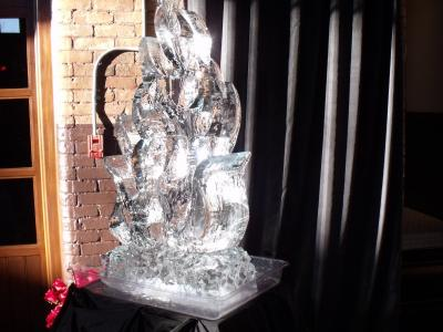 Flame Ice Sculpture