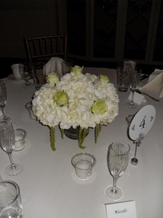 Green Rose Hydrangea Centerpiece