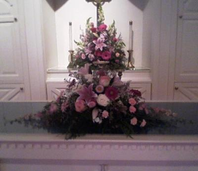 Wedding Ceremony Flowers In Pinks