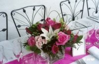Centerpiece Arrangement With Roses & Pretty Flowers