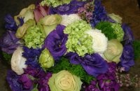 Royal Purple and Green Bridal Bouquet
