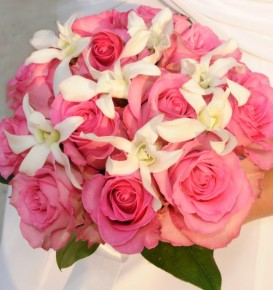 Photo of a Pink and Colorful Bridal Bouquet