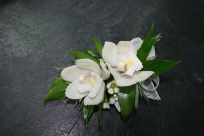 White Orchid Wedding Corsage