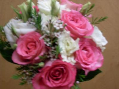 Pink & White Wedding Bouquet