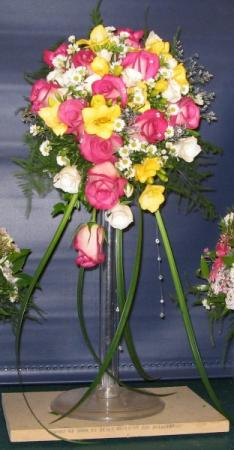 Pink & Yellow Floral Arrangement