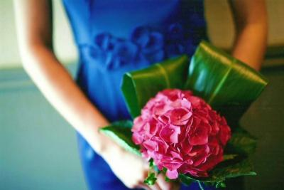 Gorgeous Hydrangea Wedding Bouquet