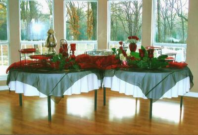 Red Reception Decor
