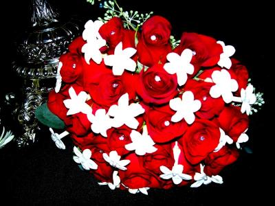 Red & White Wedding Bouquet
