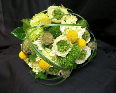 Green & Yellow Wedding Bouquet