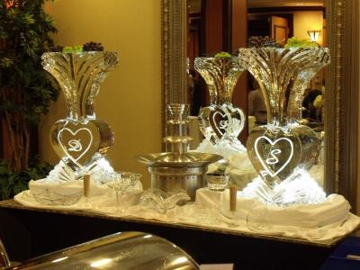 Ice vases & Chocolate fountain
