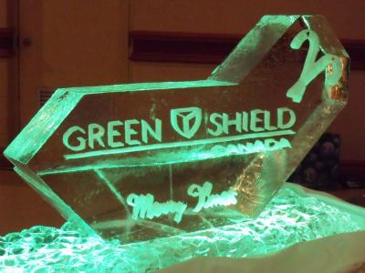 Ice Sculpture With Logo