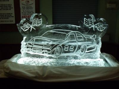 Race Car Ice Sculpture