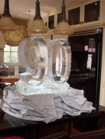90th Birthday Ice Sculpture