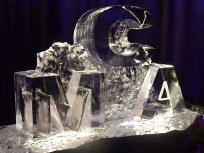 Block Lettering Ice Sculpture