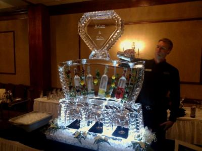 Awesome Martini Luge with Diamond Shaped Monogram