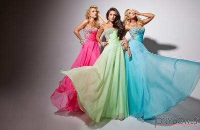 Pink, Green & Blue Prom Dresses