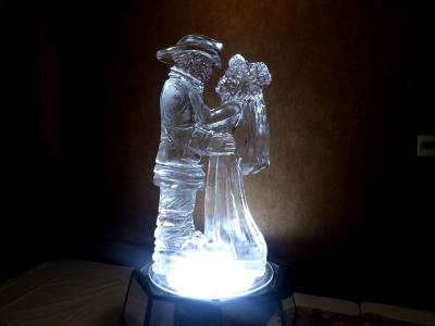 Fireman and Bride Ice Sculpture