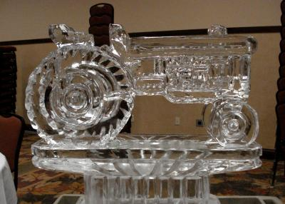 Farm Tractor Ice Sculpture-Carving