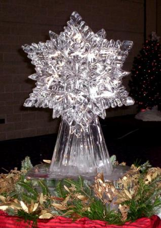 Stunning Snowflake Ice Sculpture-Carving