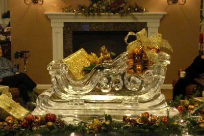 Santa's Sleigh Ice Sculpture-Carving